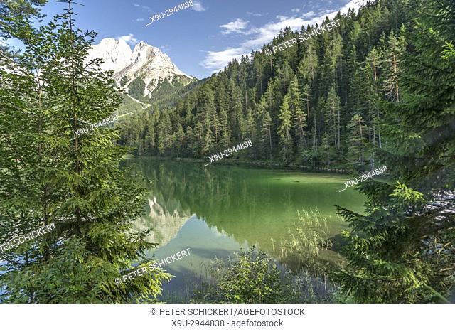 mountain lake Mittersee near Biberwier, Tyrol, Austria