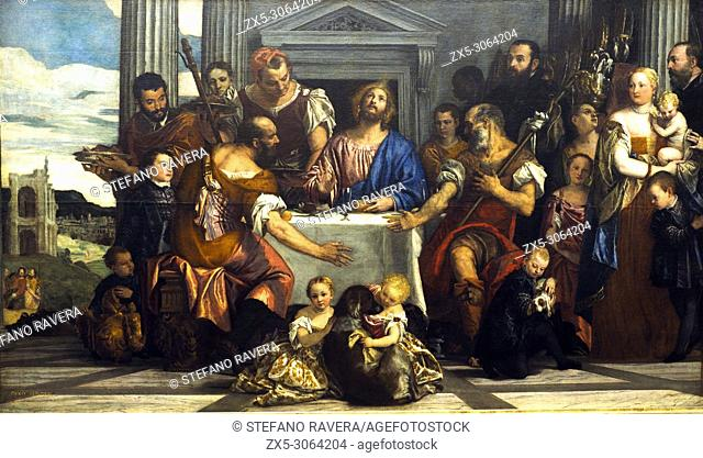 """Supper at Emmaus (1559-1560) by Paolo Caliari, known as Paolo Veronese (1528 â. """" 1588), Louvre Museum - Paris, France"""