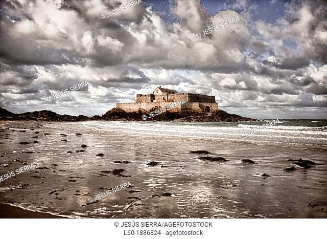 Fort National, Saint-Malo, Ille-et-Vilaine, Bretagne, Brittany, France, Europe