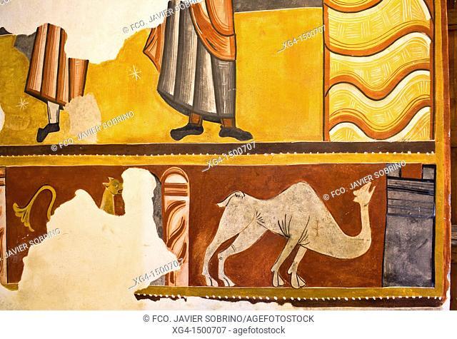 Romanesque murals in the church of Sant Joan de Boi - Taüll - Vall de Boi - Pyrenees - Lleida Province - Catalonia - Cataluña - Spain