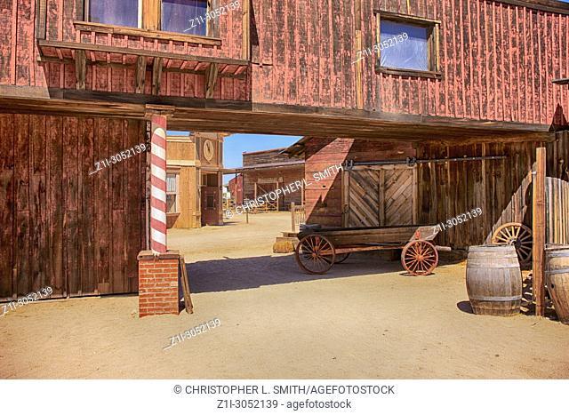 Cowboy Film set building at the Old Tucson Film Studios amusement park in Arizona