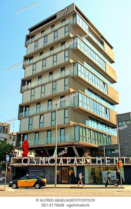 apartment building, Sants district, Barcelona, Catalonia, Spain