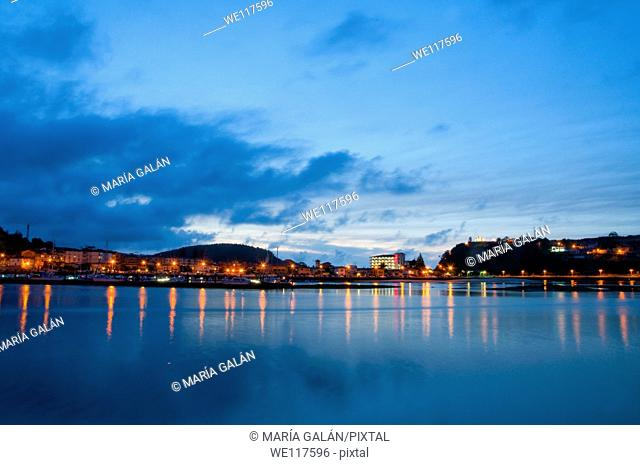 Nocturnal view. Ribadesella, Asturias province, Spain