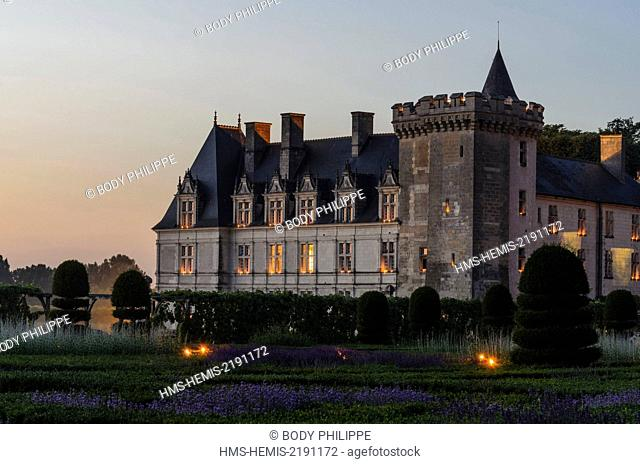 France, Indre et Loire, Loire Valley, listed as World Heritage by UNESCO, Castle and Gardens Villandry, built in the 16th century Renaissance