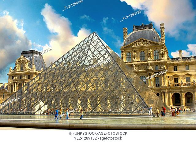 The Pyramid entrance of the Louvre - Paris, France