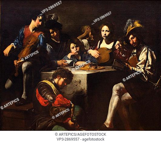 Valentin de Boulogne aka Valentin - The Concert in bas-relief - circa 1622 - 1625- Louvre Museum - Paris