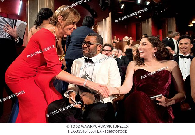 Oscar® nominees Allison Janney and Jordan Peele, and Chelsea Peretti during The 90th Oscars® at the Dolby® Theatre in Hollywood, CA on Sunday, March 4, 2018