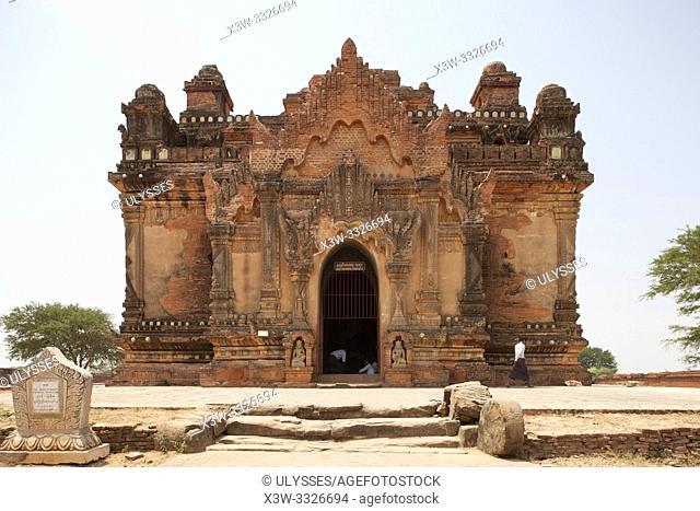 Nara Thihapatae temple, Old Bagan village area, Mandalay region, Myanmar, Asia
