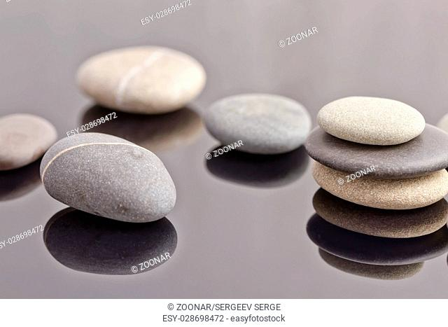 sea stones are collected in stacks