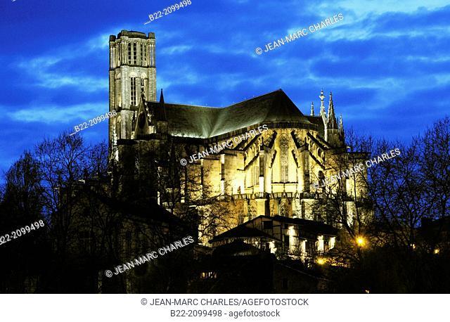 The cathedral Saint-Etienne, Limoges, Haute-Vienne, Limousin, France