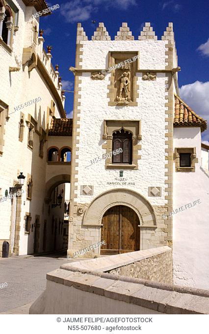 Maricel Palace. Sitges, Barcelona province. Catalonia, Spain
