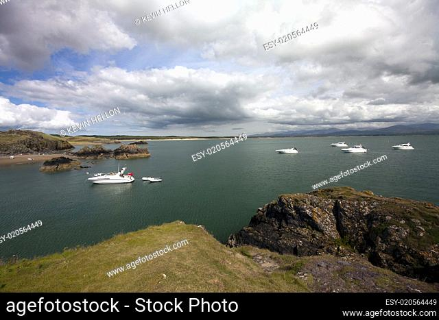Boats at anchor, Llanddwyn Island, Anglesey