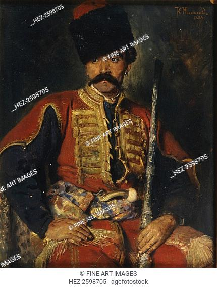 A Zaporozhian Cossack, 1884. Found in the collection of the Regional Art Museum, Sumy