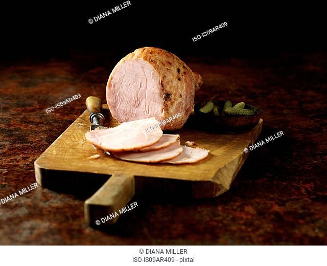 Carved Wiltshire ham