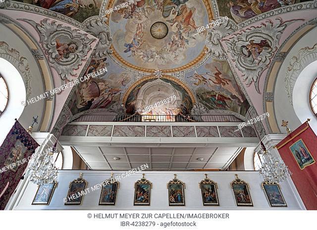 Parish church organ loft, Scheffau am Wilden Kaiser, Austria