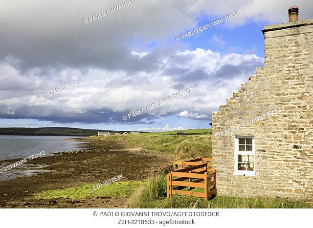 The landscape near St Margaret's Hope village in the Orkney islands, Orkney, Scotland, Highlands, United Kingdom