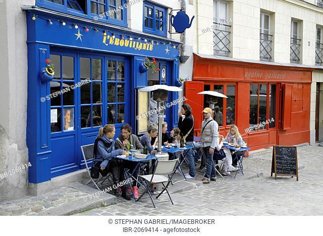 Restaurant L'Ebouillante, Rue des Barres, Saint-Gervais, Paris, Ile de France, France, Europe