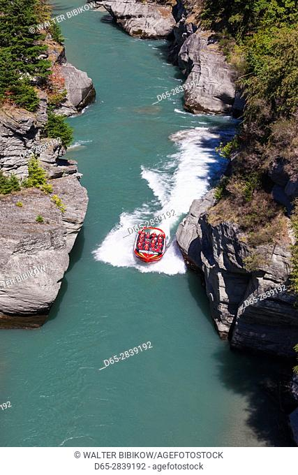 New Zealand, South Island, Otago, Queenstown, Shotover Jet, tourist jetboat tour