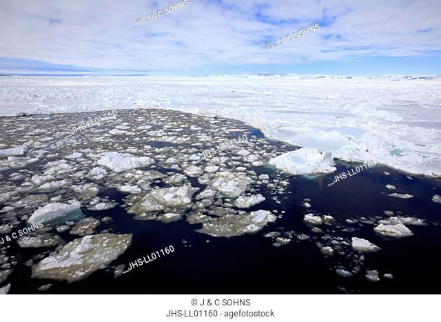 Pack Ice, Antarctica, Weddell Sea, ice smelting