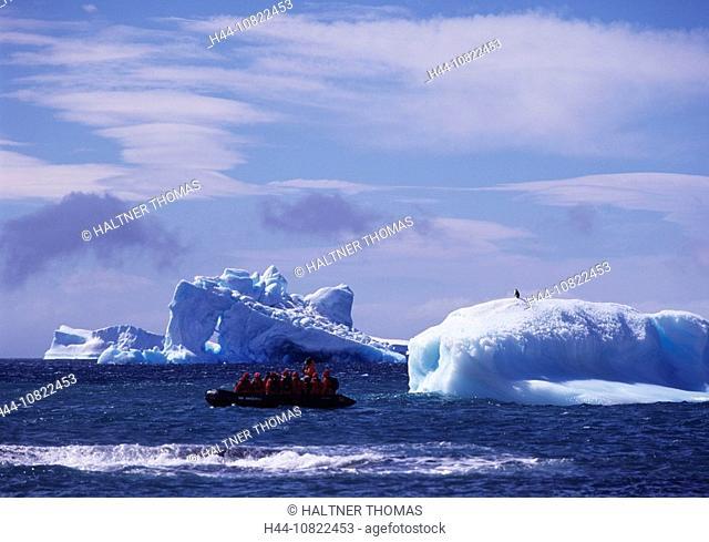 Antarctic, Antarctic, Antarctic Ocean, cruise, Brown bluff, clever boat, Boat, Sightseeing, tourists, penguin, Iceberg