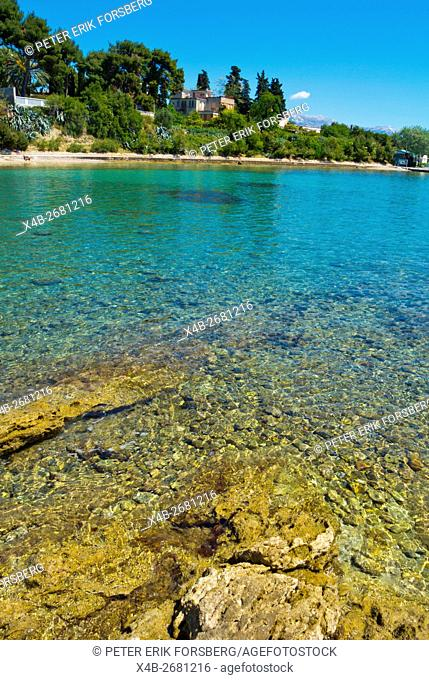 Crystal clear waters of the Adriatic sea, Jezinac, Meje district, Split, Dalmatia, Croatia