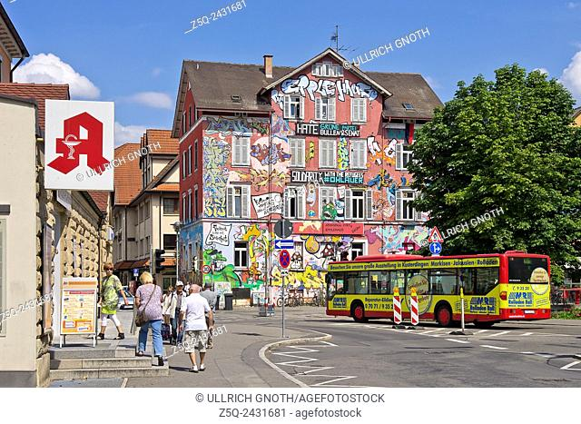The so called Epplehaus house, an infamous youth club and former occupied house in the inner city of Tubingen, Germany