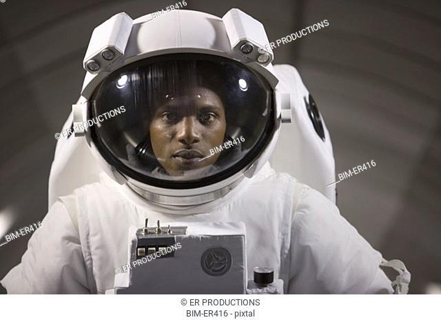 Astronaut's face