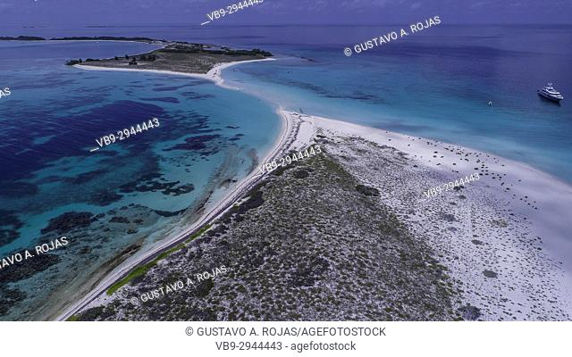 Aerial View,Caribbean Sea,cayo de agua Venezuela Waterscape