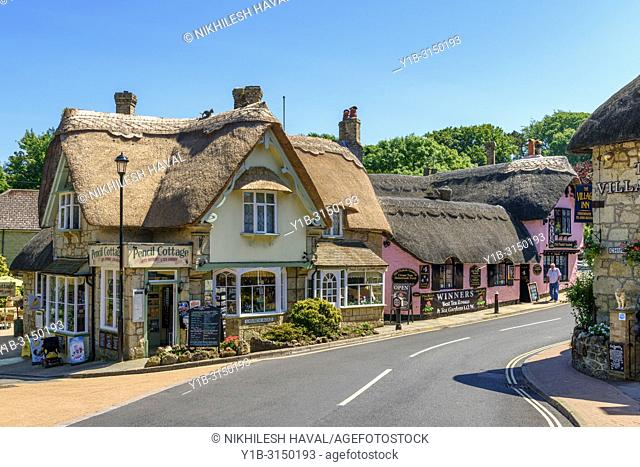 Road through Old village, Shanklin, Isle of Wight, UK