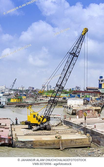 Karnafuli River Sadarghat areas, Chittagong, Bagladesh