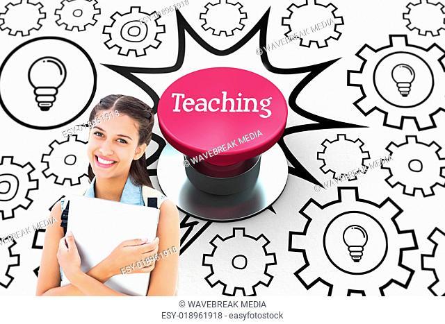 Teaching against pink push button