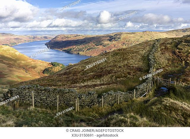 Haweswater Reservoir from Rough Crag in the Lake District National Park, Cumbria, England