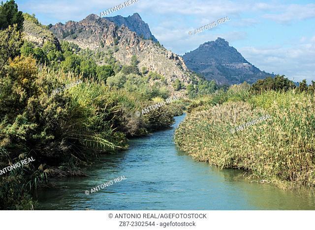 Segura river, Abarán, Valle de Ricote, Murcia, Spain