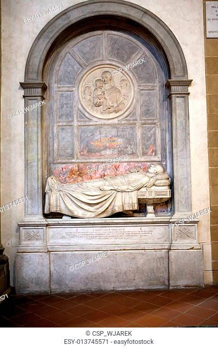 Tomb of Raffaello Morghenin the Basilica Santa Croce in Florence