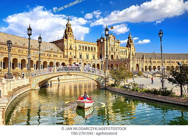 Plaza de Espana - Seville, Sevilla, Andalusia, Spain