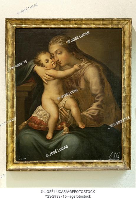 Provincial museum, Oil painting, Virgin with Child Jesus (17th century), Lugo, Region of Galicia, Spain, Europe