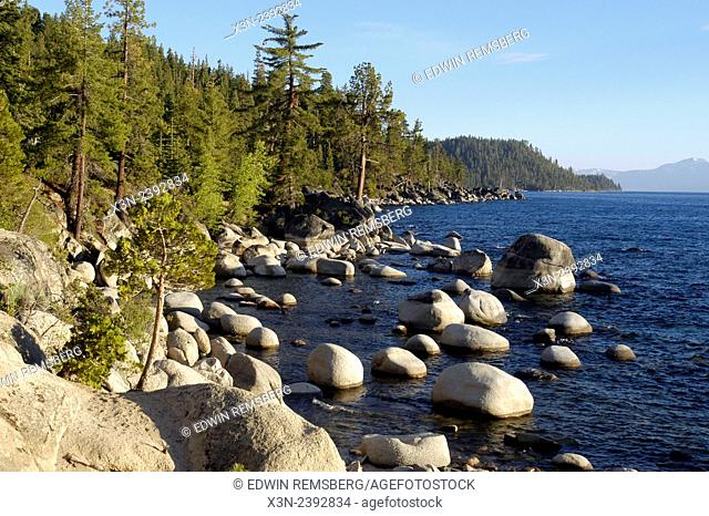 Lake Tahoe shore line