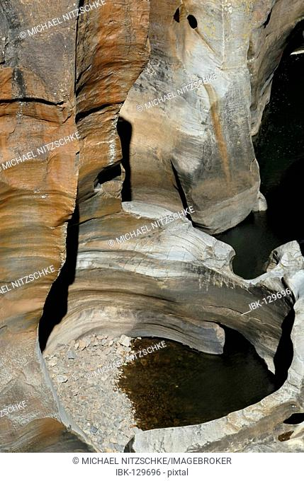 Washed out Dolomite rock Bourkes Luck Potholes, Blyde River Canyon, South Africa