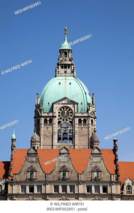 Germany, Lower Saxony, Hannover, Dome of the new town hall