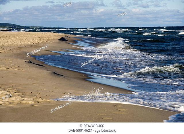 Lithuania - Klaipéda County - Curonian Spit (UNESCO World Heritage List, 2000) - Vicinity of Nida. Beach on the Baltic Sea