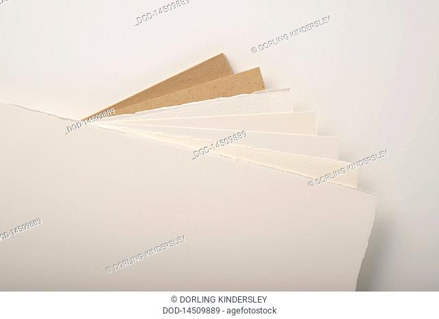 Variety of watercolour papers