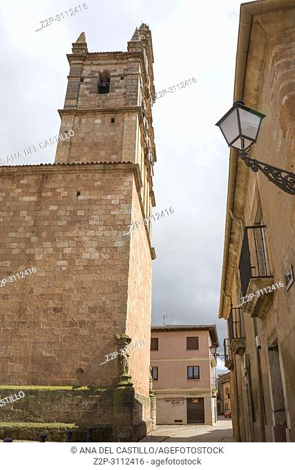Ayllon Cradle Of The Red Villages Of Segovia Spain. The parish church