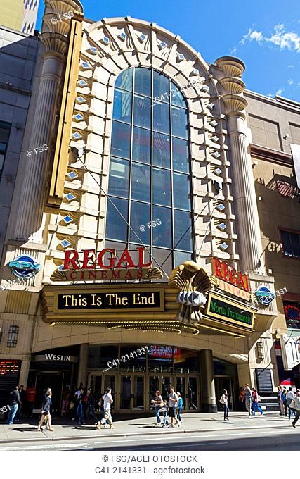 Cinema at 42nd st. New York City. NY, USA