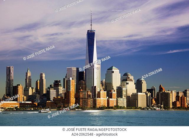 New York City , Manhattan , Downtown Skyline