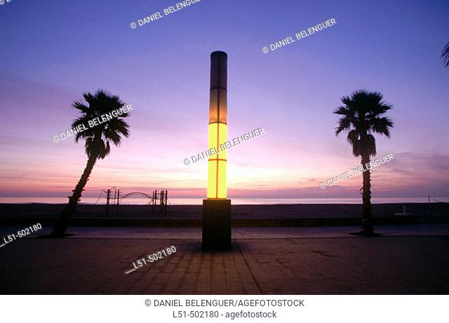 La Patacona beach at sunrise. Valencia. Spain