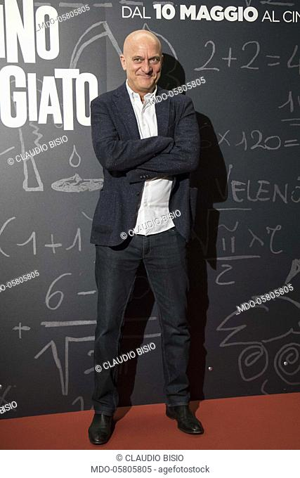 The italian actor and presenter Claudio Bisio at the photocall of the film Tonno Spiaggiato, directed by Matteo Martinez with Frank Matano at the Cinema Anteo
