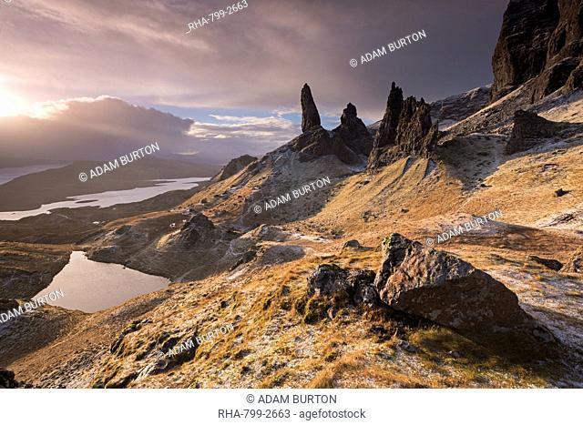Dramatic scenery at the Old Man of Storr, Isle of Skye, Inner Hebrides, Scotland, United Kingdom, Europe