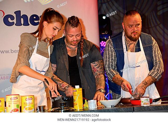 Benefizkochen (Benefit cooking) in aid of Kinderhospiz Sonnenhof at Hotel Best Western Moa. Featuring: Antonia (GNTM) and Haudegen Where: Berlin