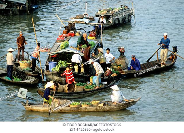 Vietnam, Mekong Delta, Cantho, Cai Rang, floating market