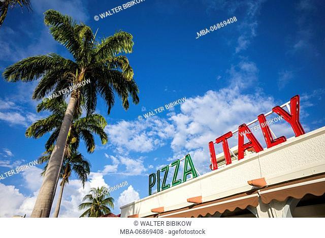 Netherlands, Sint Maarten, Simpson Bay, Pizza Italy Restaurant